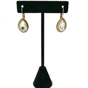 Swarovski Crystal Gold Earrings